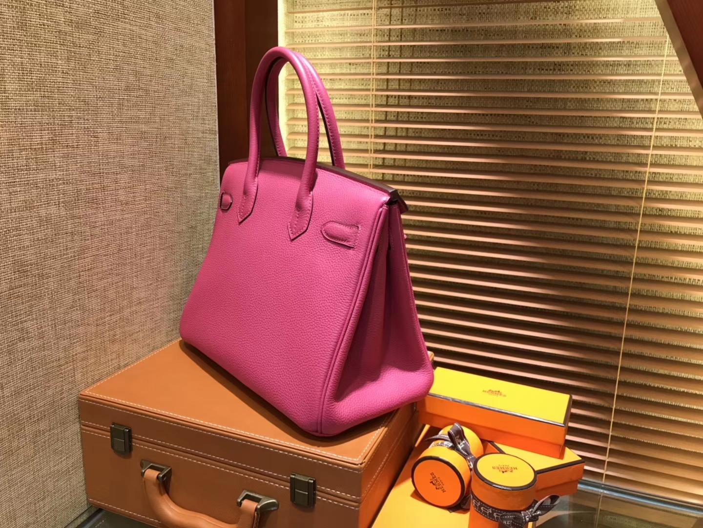 Hermès(爱马仕)Birkin 30cm ( 铂金包) Togo小牛皮 玉兰粉 原版蜜蜡线 全手工缝制