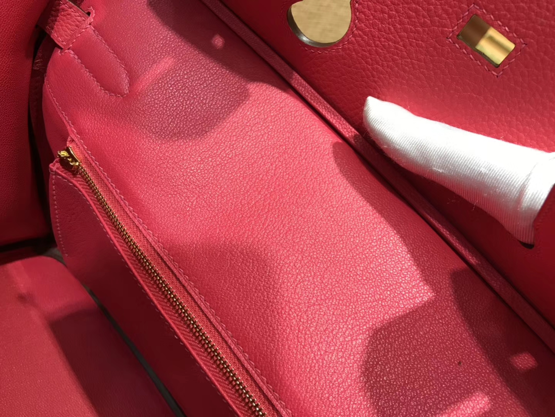 Hermès(爱马仕)Birkin 30cm ( 铂金包) Togo小牛皮 极致粉 原版蜜蜡线 全手工缝制