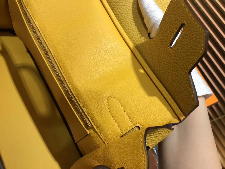 Hermès(爱马仕)Birkin 30cm ( 铂金包) Togo小牛皮 9D 琥珀黄 原版蜜蜡线 全手工缝制
