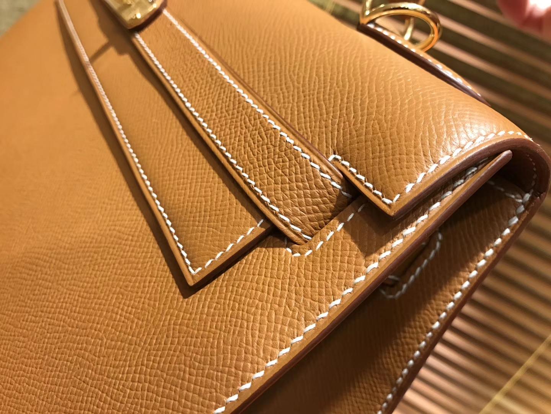 Hermès(爱马仕)Kelly 25,28,32(凯莉包) 金棕色 德国进口 掌纹牛皮 原版蜜蜡线 全手工缝制
