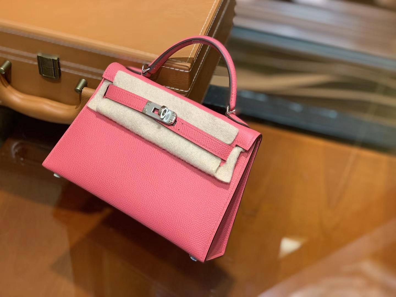 Hermès(爱马仕)MiniKelly 迷你凯莉 新唇膏粉 德国掌纹牛皮 原版蜜蜡 全手工缝制 2代 19cm