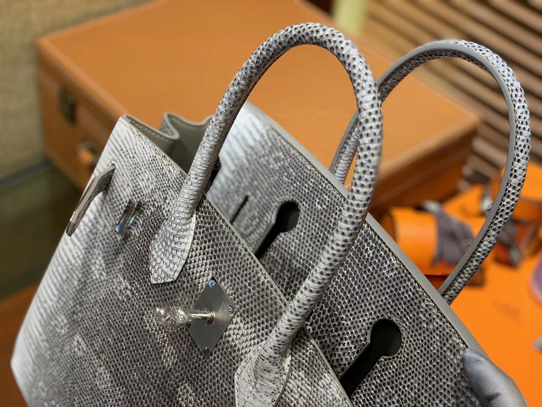 Hermès(爱马仕)Birkin铂金包 原色蜥蜴 复古系 匠心打造 30cm