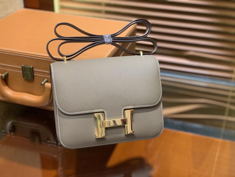 Hermès(爱马仕)Constance空姐包 大象灰 顶级全手工缝制 18cm