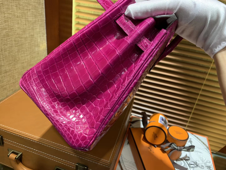 Hermès(爱马仕)Birkin铂金包 天方夜谭紫 一级皮 尼罗鳄鱼 进口原料 顶级手缝工艺 25cm