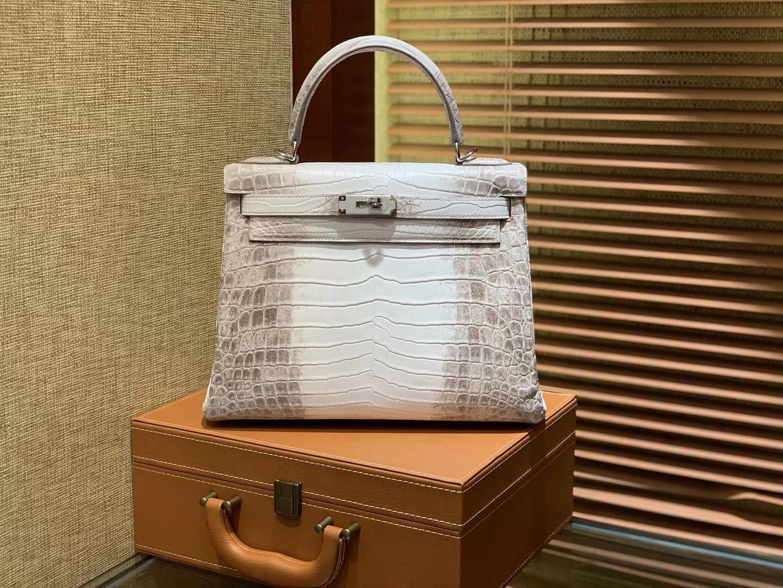 Hermès(爱马仕)Kelly 28cm 喜玛拉雅 包中皇后 顶级手缝工艺 银扣