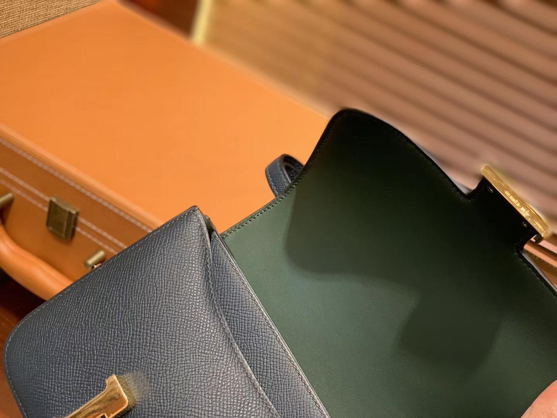 Hermès(爱马仕)Constance空姐包 新色 松柏绿 顶级全手工缝制 金扣 18cm