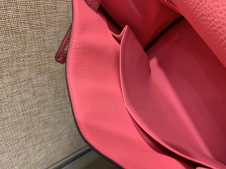 Hermès(爱马仕)Kelly凯莉包 togo小牛皮 唇膏粉 进口原料 原版蜜蜡线 金扣 28cm