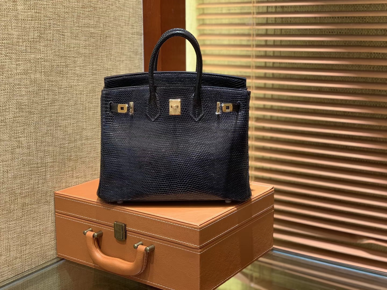 Hermès(爱马仕)Birkin 25cm 经典黑 野生蜥蜴巨蜥 奢侈尖端 金扣