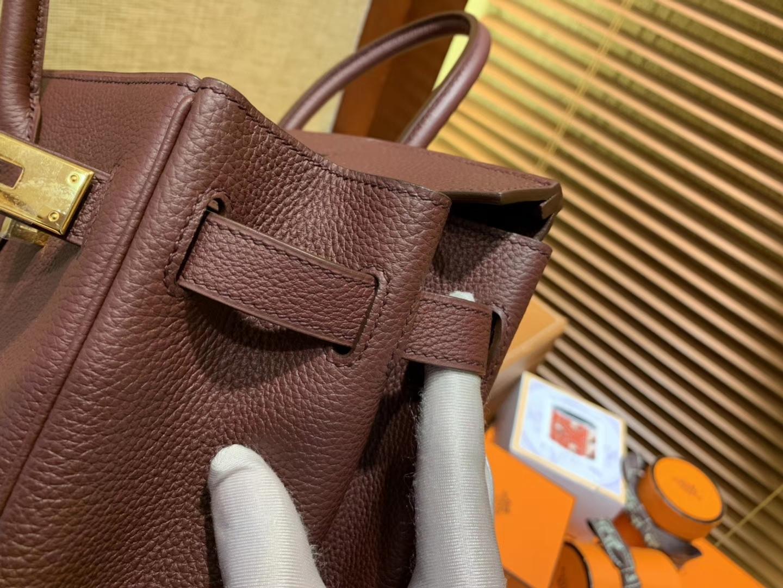 Hermès(爱马仕)Birkin铂金包 爱马仕红 德国togo小牛皮 原版蜜蜡线 顶级手缝 金扣 30cm
