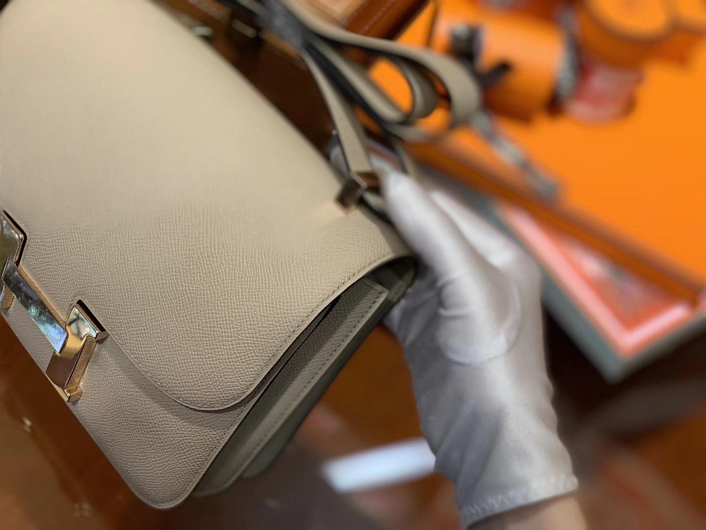 Hermès(爱马仕)Constance 23cm 风衣灰 EP掌纹牛皮 德国进口原料