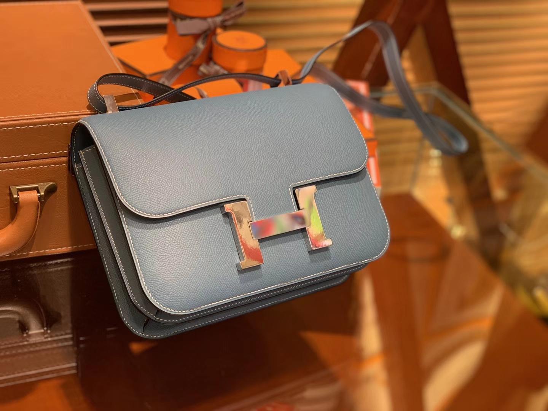 Hermès(爱马仕)Constance 23cm 牛仔蓝 EP掌纹牛皮 德国进口原料