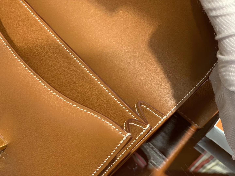 Hermès(爱马仕)Constance 18cm 金棕色 Swift 牛皮 德国进口原料 鳄鱼工序 臻品级别