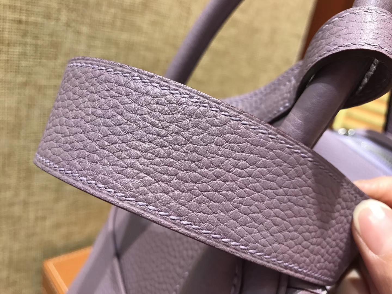 Hermès(爱马仕)Lindy琳迪包 薰衣草紫 德国进口togo牛皮 全手工缝制 银扣 30cm