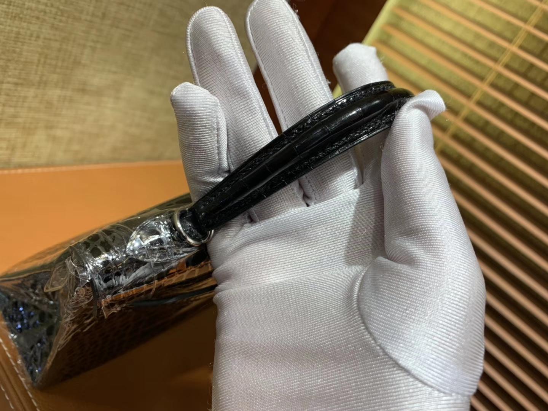 Hermès(爱马仕)Mini Kelly 黑色 一级美洲鳄鱼皮 顶级全手工缝制 臻品级别 19cm 2代