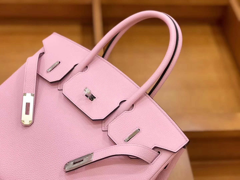Hermès(爱马仕)新增现货 birkin 铂金包 锦葵紫 德国进口小牛皮 银扣 30cm