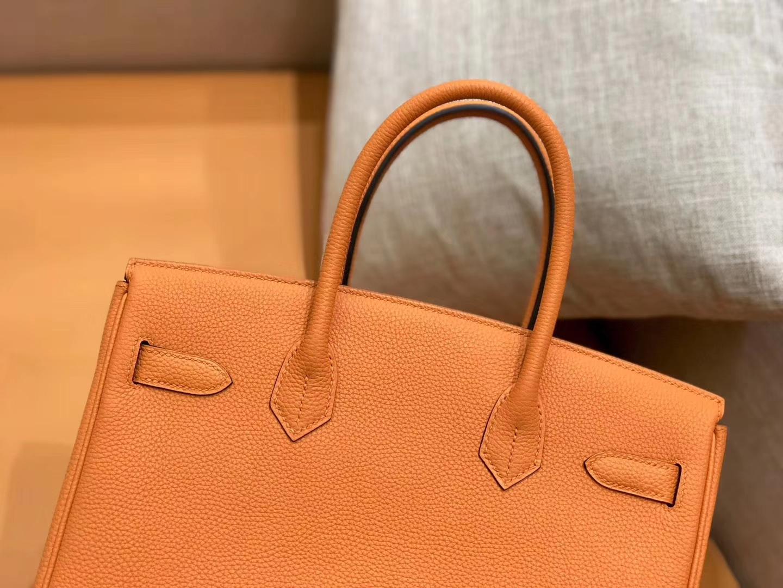 Hermès(爱马仕)新增现货 birkin 铂金包 经典橙 德国进口小牛皮 金扣 30cm