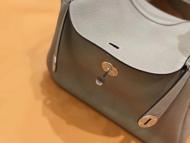 Hermès(爱马仕)新增现货 Lindy 琳迪包 沥青灰 银扣
