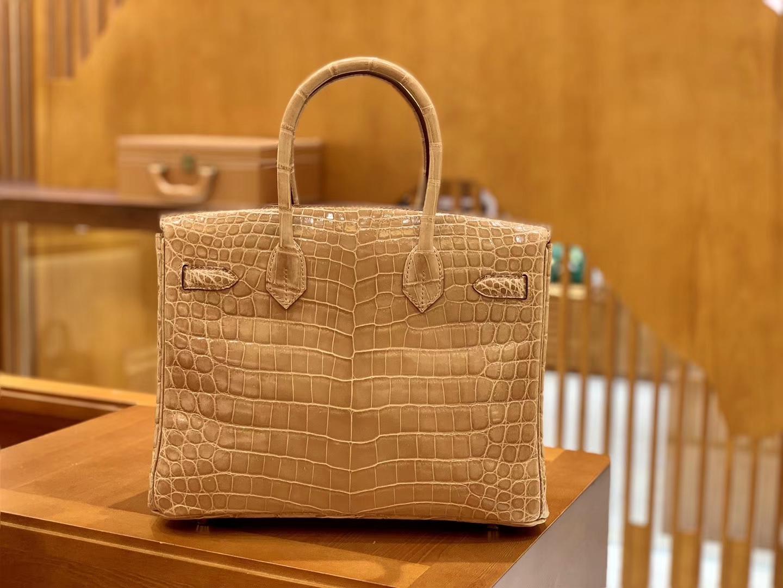 Hermès(爱马仕)Birkin 30cm 太妃金 金扣 一级皮 尼罗鳄鱼皮 臻品级别