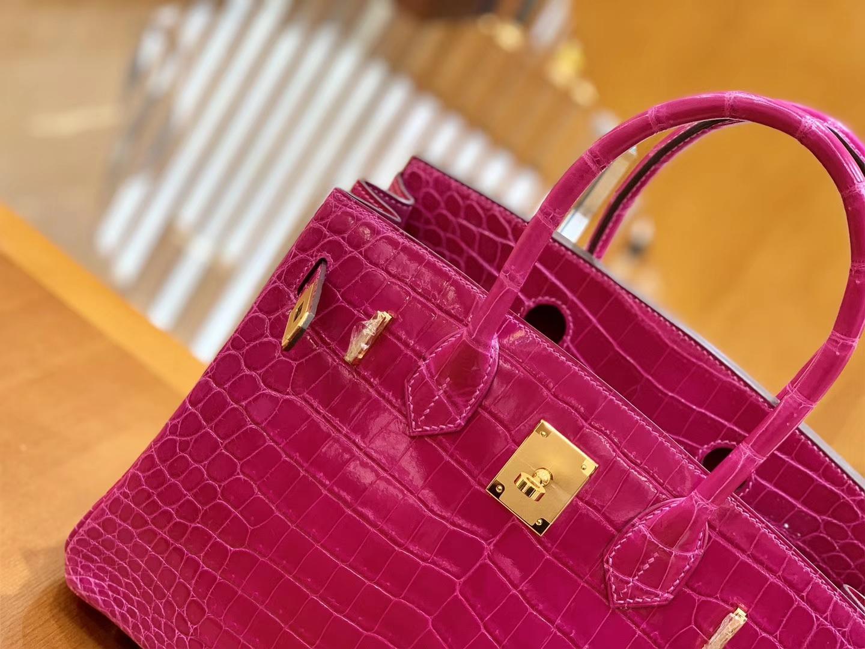 Hermès(爱马仕)Birkin 30cm 天方夜谭紫 金扣 一级皮 尼罗鳄鱼皮 臻品级别