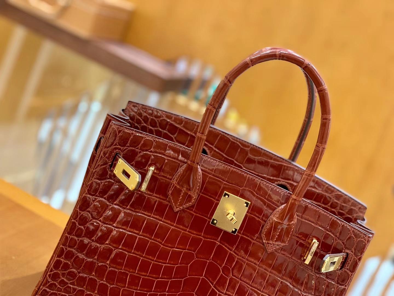 Hermès(爱马仕)Birkin 30cm 板栗棕 金扣 一级皮 尼罗鳄鱼皮 臻品级别