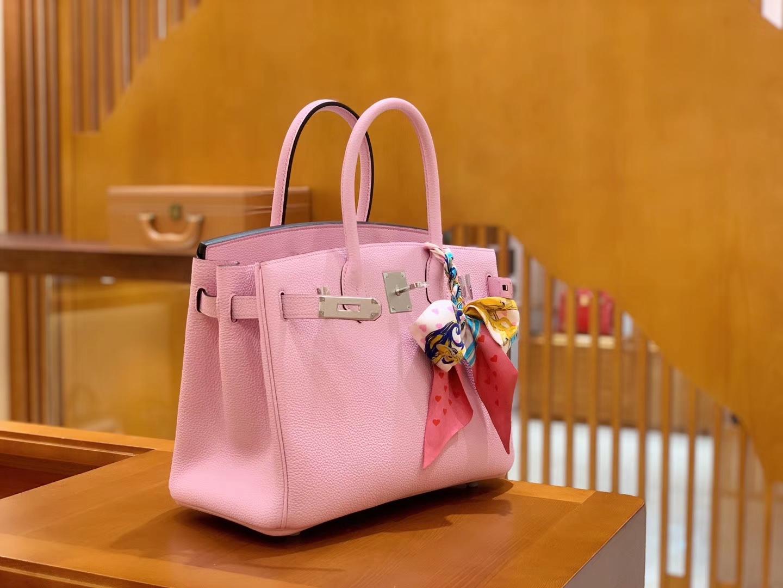 Hermès(爱马仕)Birkin 铂金包 X9锦葵紫 德国进口牛皮 全手工 30cm 现货
