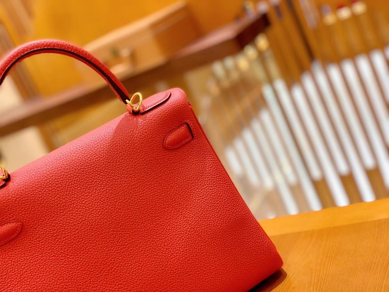 Hermès(爱马仕)Kelly 凯莉包 国旗红 Togo德国进口牛皮 全手工 金扣 28cm 现货