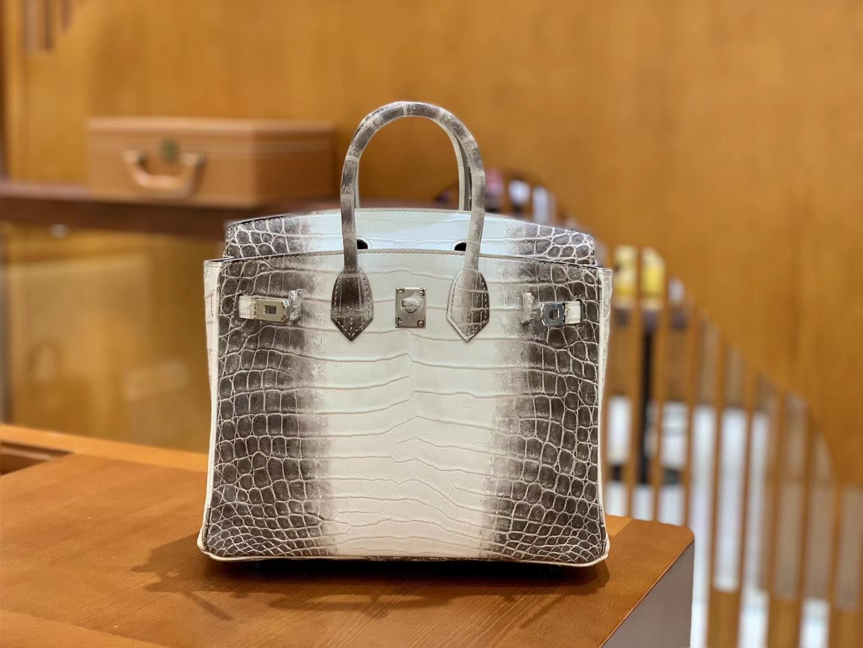 Hermès(爱马仕)Birkin 铂金包 喜马拉雅 特级品相极佳 一级皮 尼罗鳄鱼皮 臻品级别 银扣 25cm