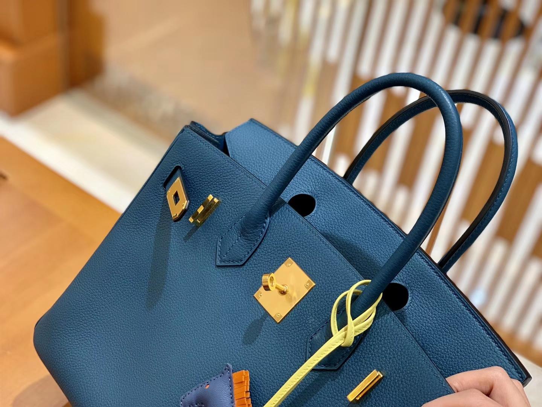 Hermès(爱马仕)Birkin 30cm 博斯普鲁斯绿 金扣 德国进口togo 牛皮 全手工缝制