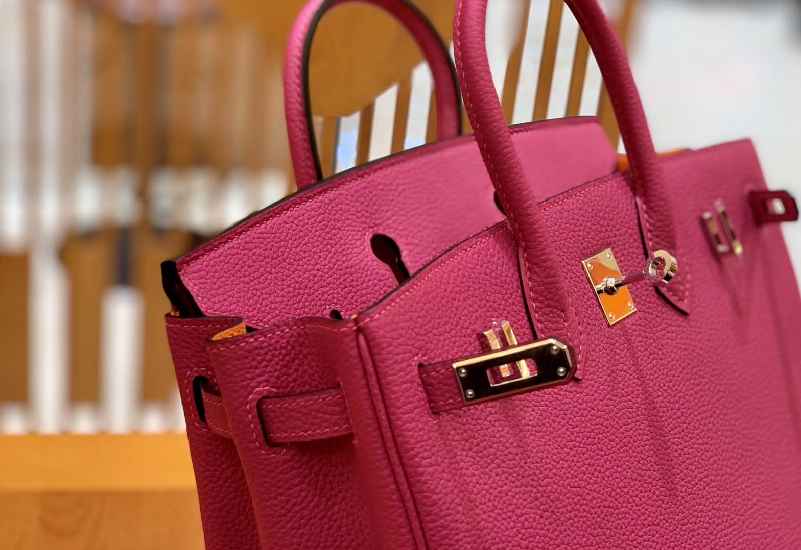Hermès(爱马仕)Birkin 25cm 拼色 Togo 德国进口小牛皮 全手工缝制