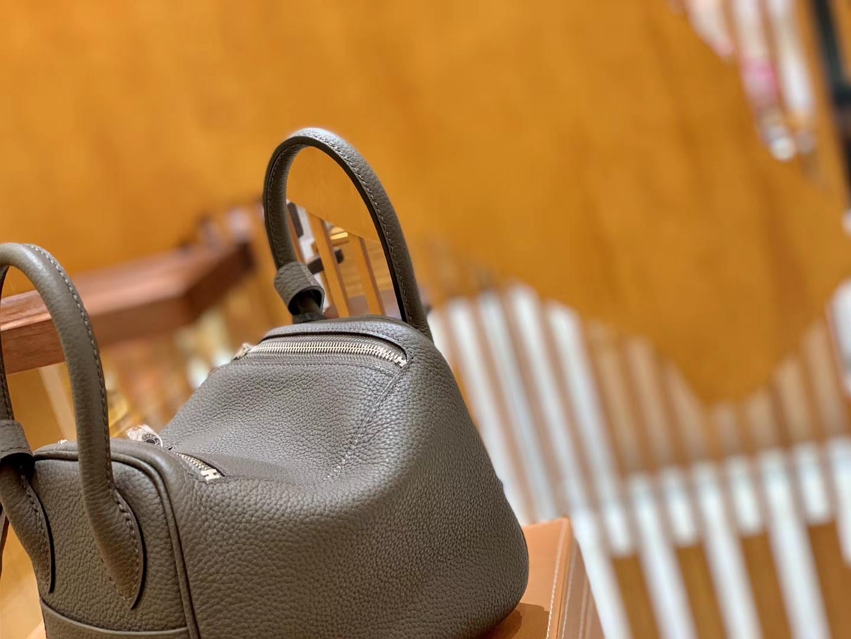 Hermès(爱马仕)Mini Lindy 18cm 锡器灰 银扣 德国进口Togo牛皮 全手工缝制