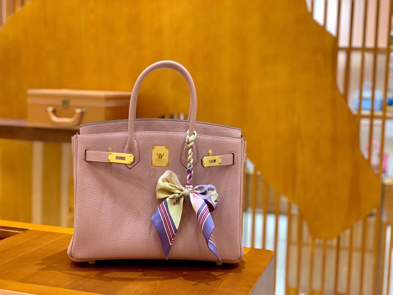 Hermès(爱马仕)Birkin 30cm 丁香紫 金扣 德国进口togo 牛皮 全手工缝制