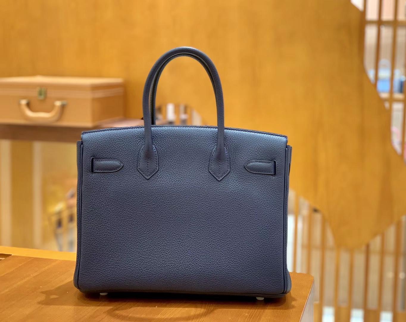 Hermès(爱马仕)Birkin 30cm 中队长 银扣 德国进口togo 牛皮 全手工缝制