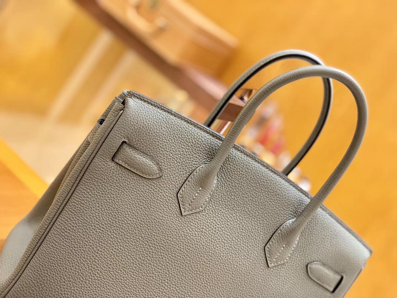 Hermès(爱马仕)Birkin 30cm 锡器灰 银扣 德国进口togo 牛皮 全手工缝制