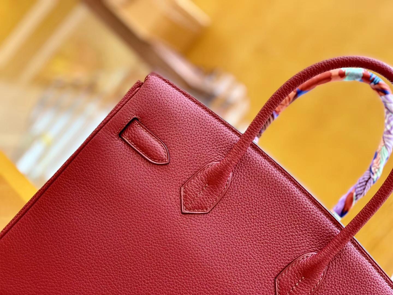 Hermès(爱马仕)Birkin 30cm 石榴红 金扣 Togo德国进口牛皮 全手工缝制