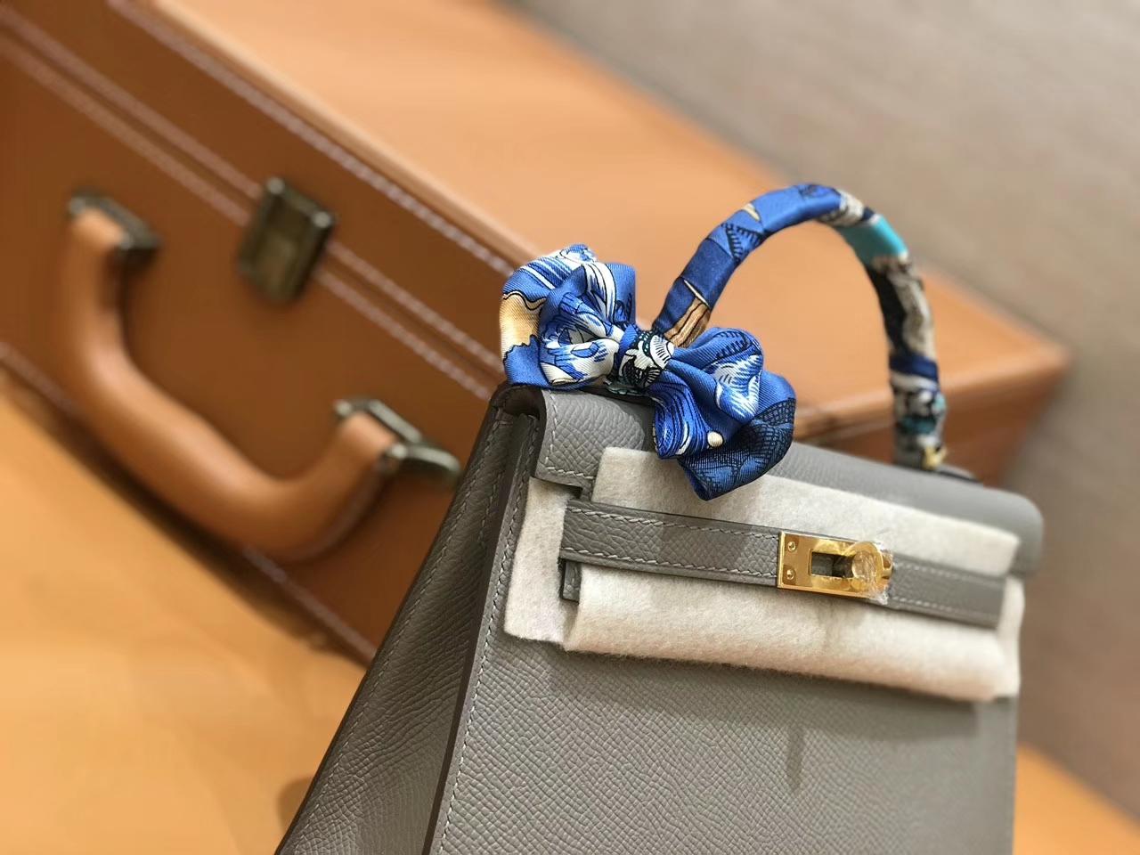 Hermès(爱马仕)mini Kelly 银河灰 金扣 德国进口掌纹皮 全手工缝制