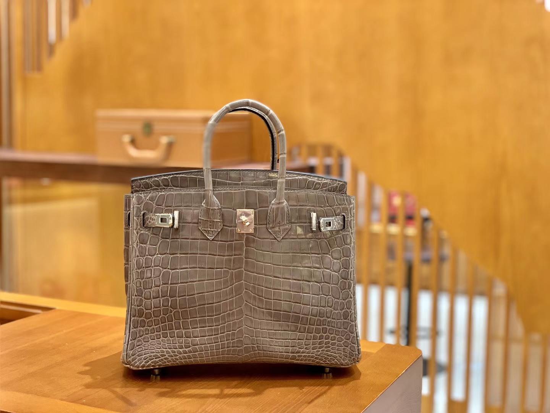 Hermès(爱马仕)Birkin 30cm 斑鸠灰 灰扣 一级皮 尼罗鳄鱼皮 臻品级别