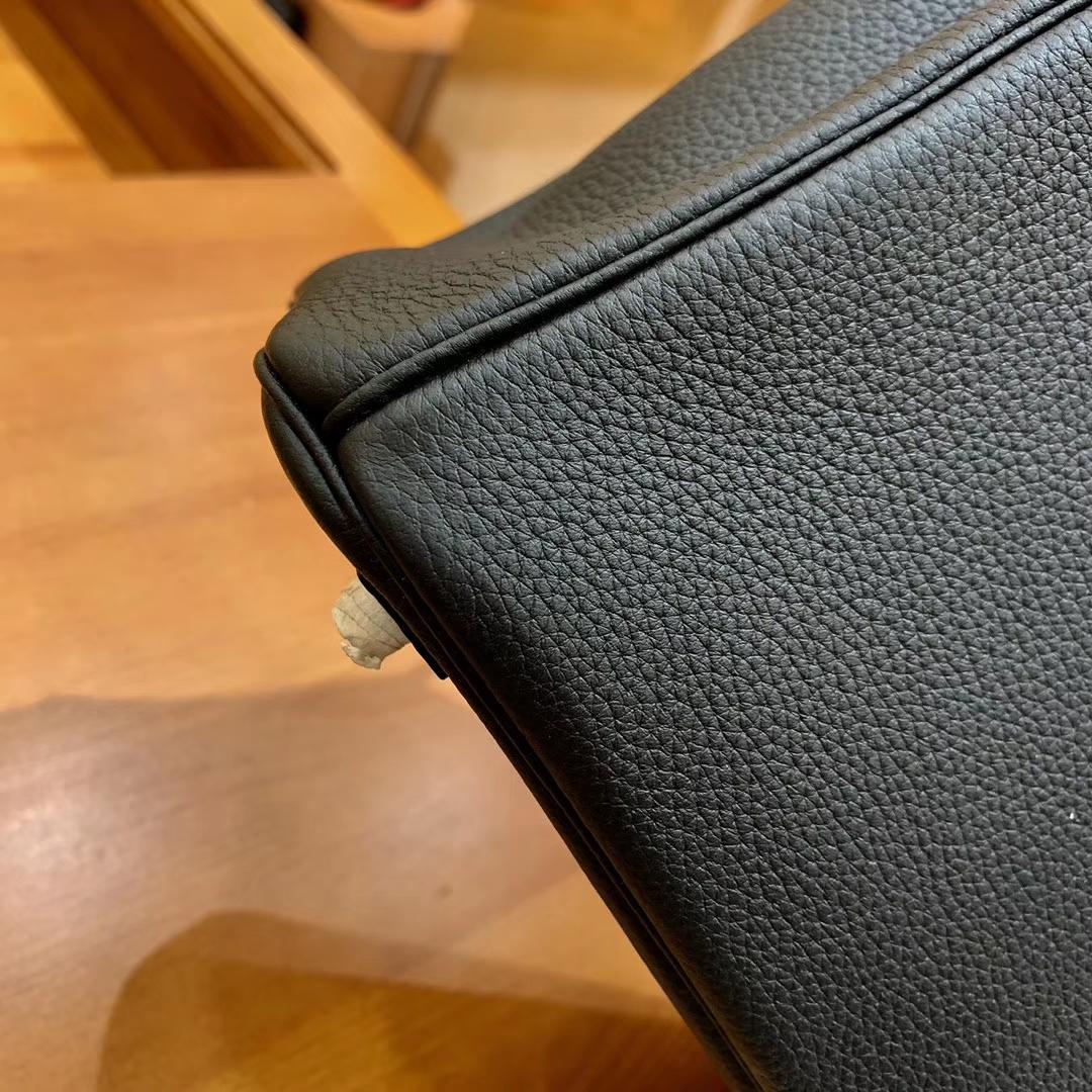 Hermès(爱马仕)Birkin 铂金包 祖母绿拼黑色 Touch 牛皮拼鳄鱼皮 金扣 30cm