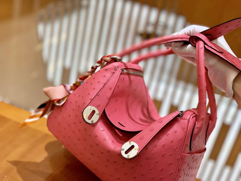 Hermès(爱马仕)Lindy 琳迪包 26cm 鸵鸟皮 现货