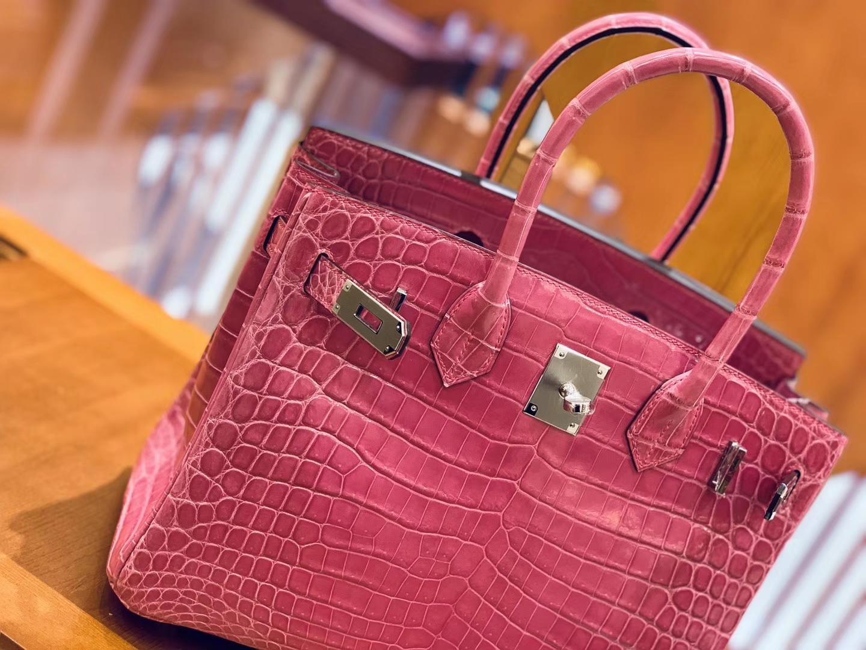 Hermès(爱马仕)Birkin 30cm 玉兰粉 银扣 一级皮 尼罗鳄鱼皮 臻品级别