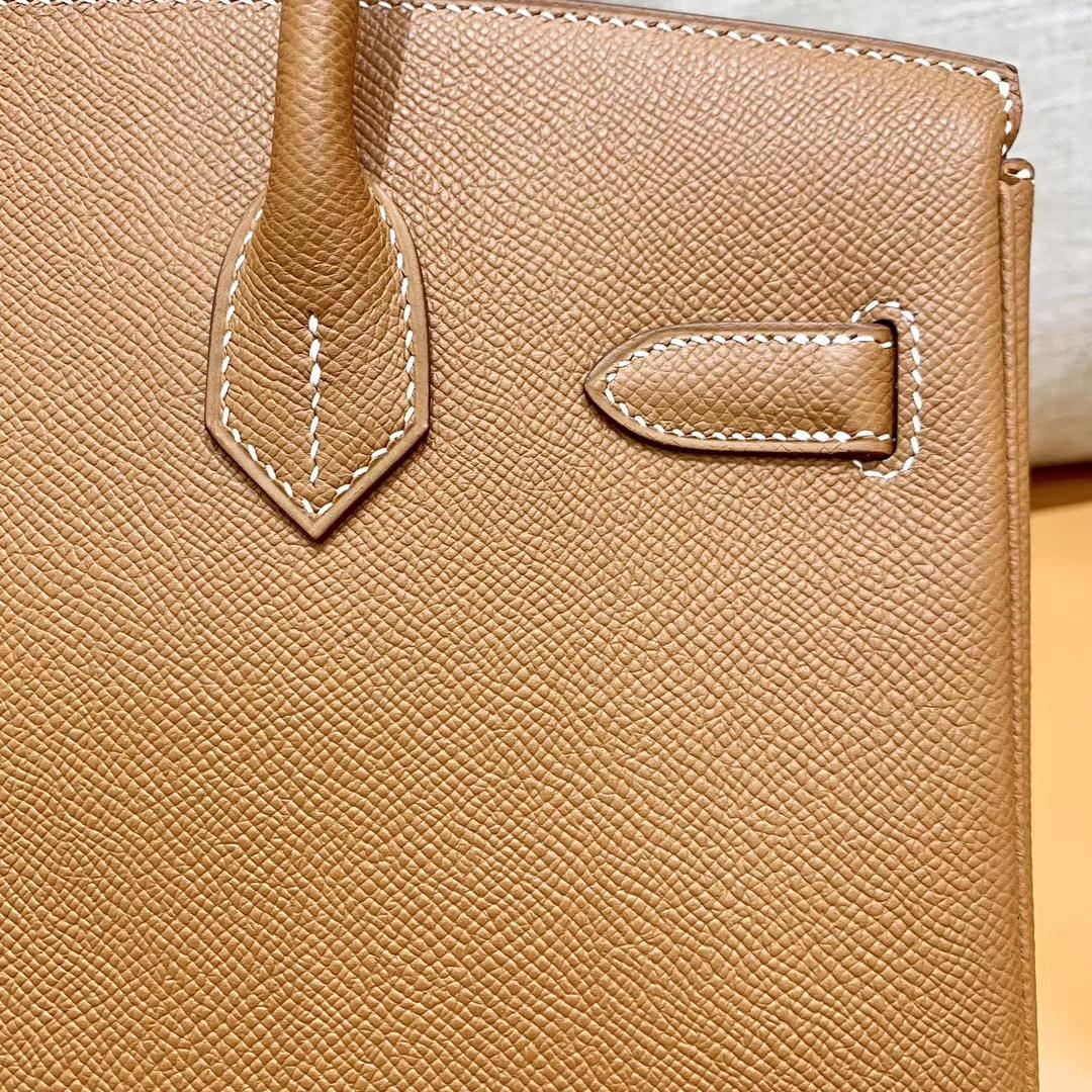 Hermès(爱马仕)Birkin 铂金包 金棕色 掌纹牛皮 金扣 30cm 高订版本