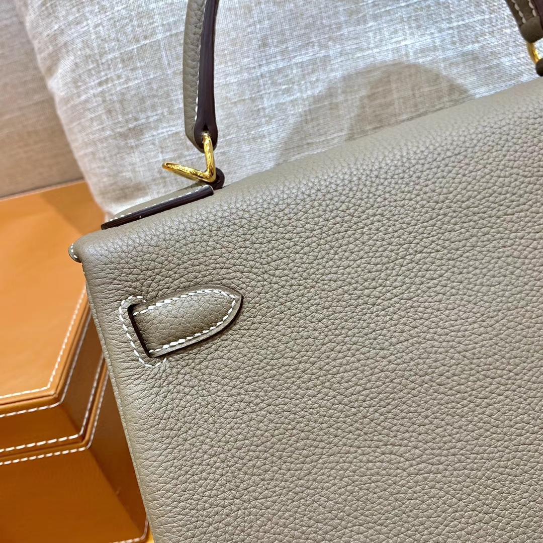 Hermès(爱马仕)Kelly 凯莉包 大象灰 小牛皮 28cm