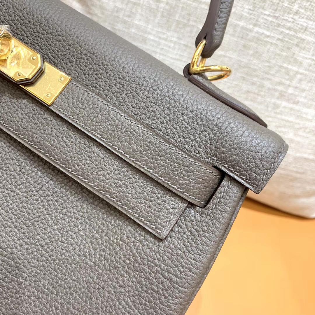 Hermès(爱马仕)Kelly 凯莉包 锡器灰 小牛皮 28cm