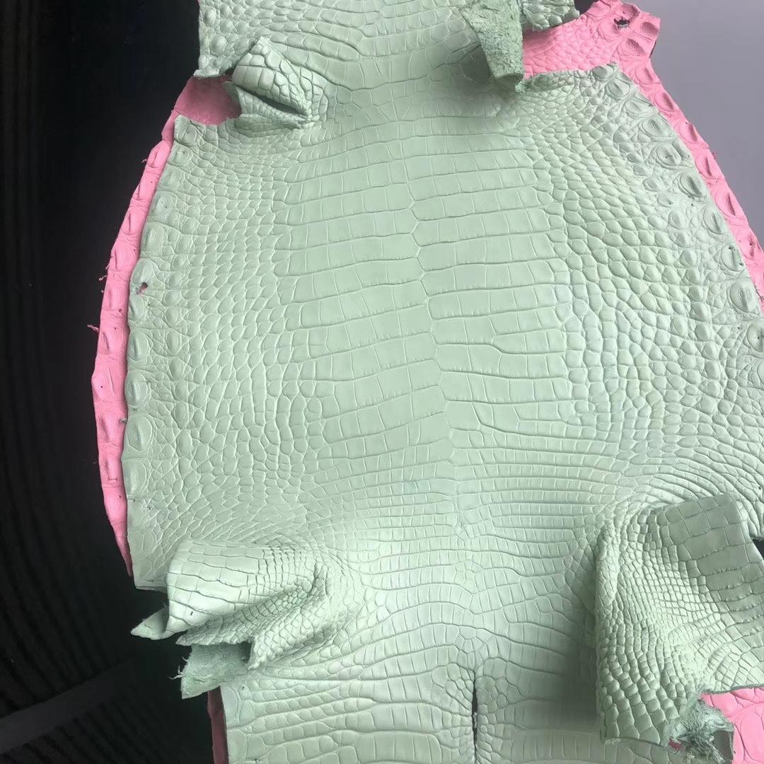 Hermès(爱马仕)新到皮料 6U 薄荷绿 定制 Birkin 25cm Mini kelly llmini pochette