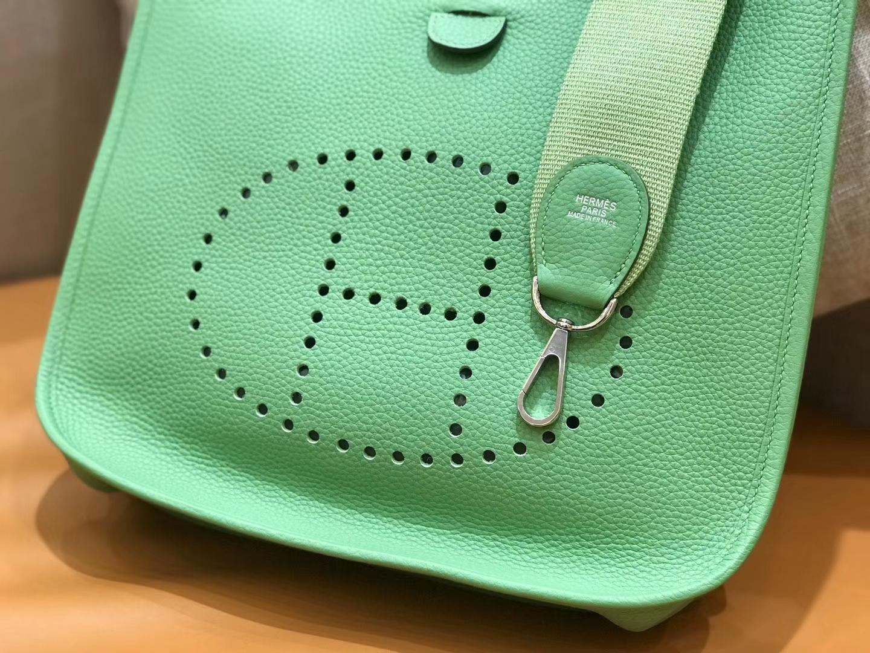 Hermès(爱马仕)Evelyne 伊芙琳 牛油果 Togo牛皮 全手工缝制 29cm