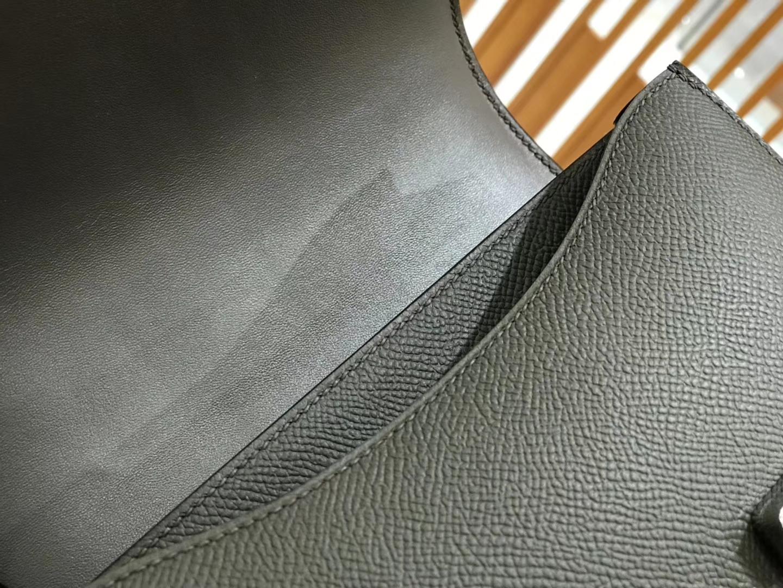 Hermès(爱马仕)Constance 18cm Epsom牛皮 锡器灰 银扣 全手工缝制 现货