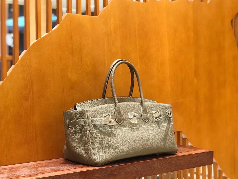 Hermès(爱马仕)Should Birkin 42cm togo 大象灰 银扣 全手工缝制 现货