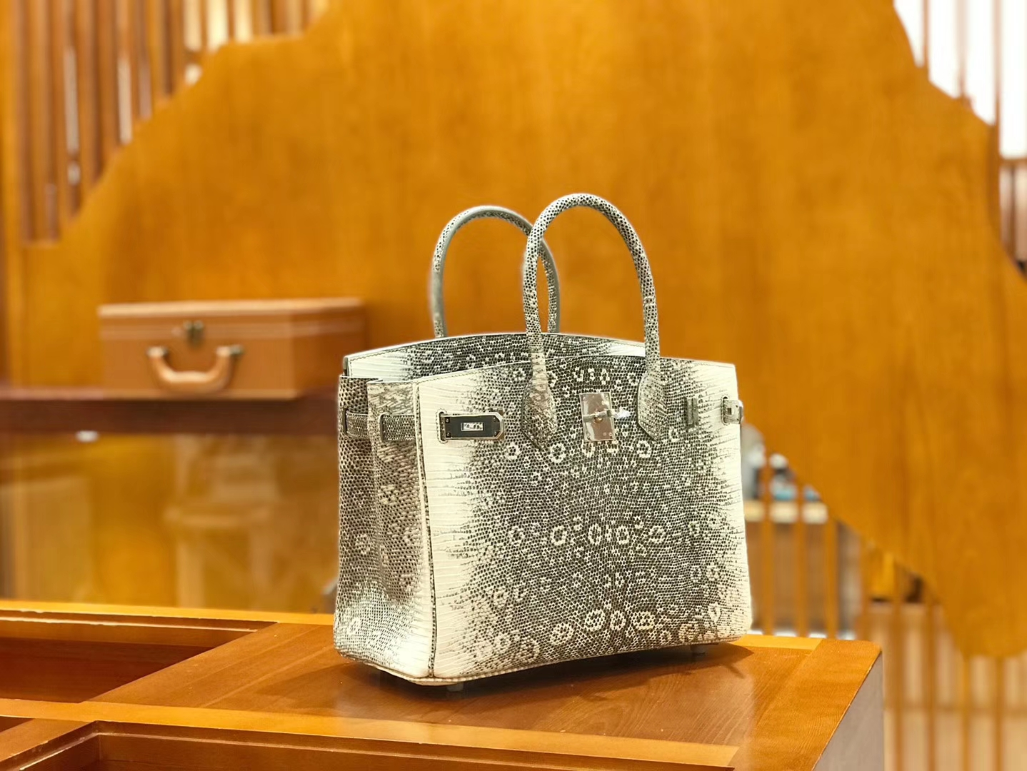 Hermès(爱马仕)Birkin 30cm 蜥蜴皮 原色 顶级版本 高订现货