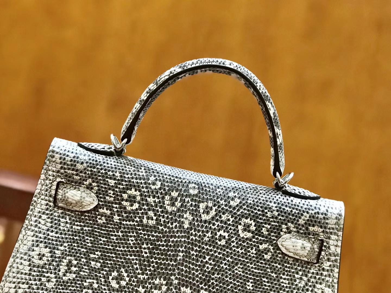 Hermès(爱马仕)Mini Kelly 19cm 蜥蜴皮 原色 顶级版本 高订现货