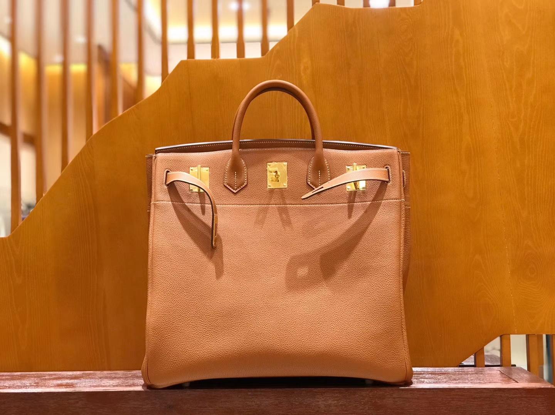 Hermès(爱马仕)Birkin 铂金包 金棕色 小牛皮 金扣 40cm 男士首选