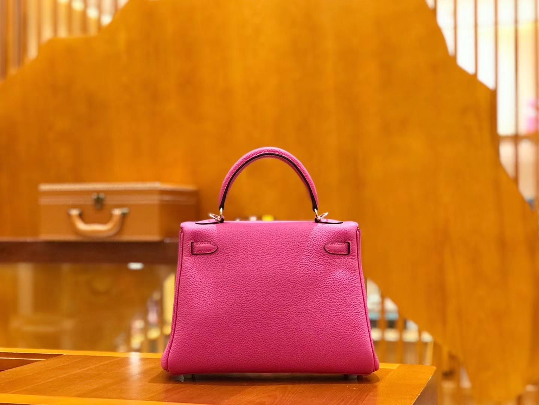 Hermès(爱马仕)Kelly 25cm 玉兰粉 Togo牛皮 全手工缝制